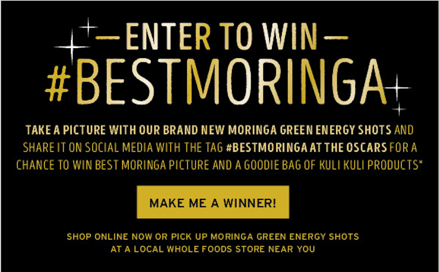 Kuli Kuli's products are at the Oscars! Are you the next #BestMoringa winner?